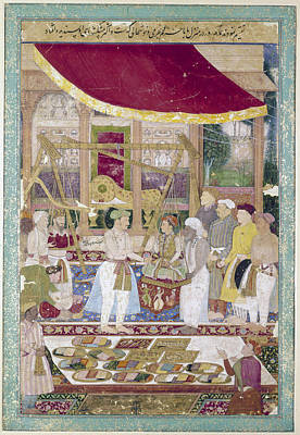 Giving Painting - Jahangir (1569-1627) by Granger