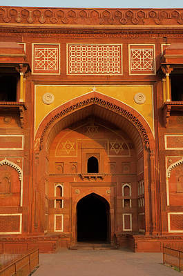 Inlay Photograph - Jahangiri Mahal, Agra Fort, Agra, Uttar by Inger Hogstrom
