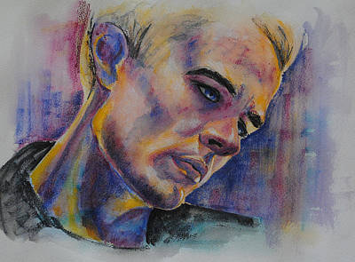 Watercolor Pencil Painting - James Marsters by Francoise Dugourd-Caput