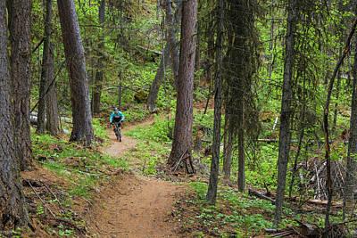 Jared Lynch Mountain Biking The North Print by Chuck Haney