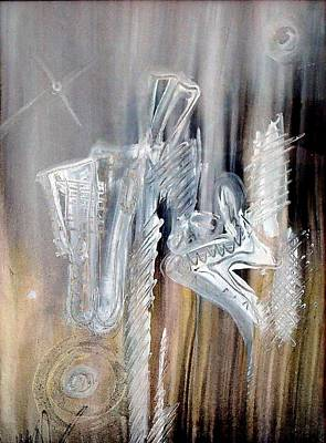 Painting - Jazzetry by Paul Pulszartti