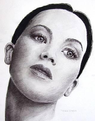 Hunger Drawing - Jennifer Lawrence by Natalia Chaplin