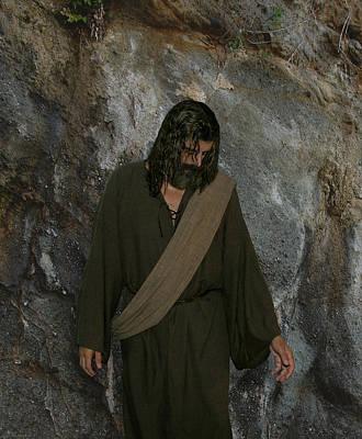 Real Face Digital Art - Jesus Christ- Rise And Walk With Me  by Acropolis  De Versailles