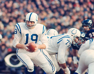 American Football Photograph - Johnny Unitas by Retro Images Archive