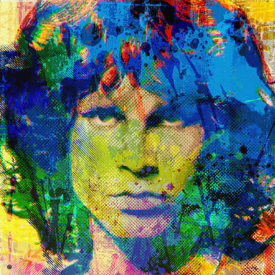 Graphic Digital Art Painting - Jim Morrison by Gary Grayson