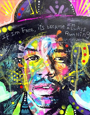 Painting - Jimi Hendrix by Dean Russo