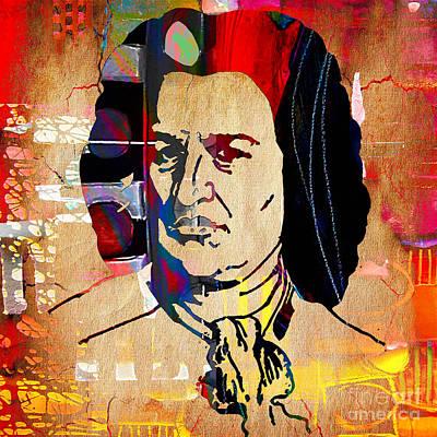 Johann Sebastian Bach Collection Print by Marvin Blaine