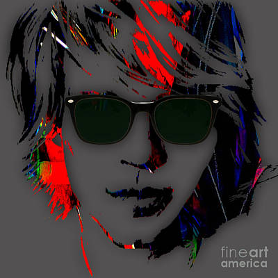 Rock Mixed Media - Jon Bon Jovi Collection by Marvin Blaine