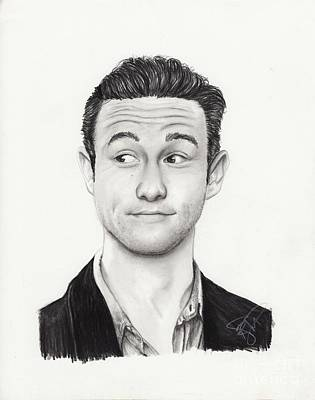 Markle Drawing - Joseph Gordon Levitt by Rosalinda Markle