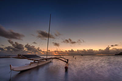 Kaneohe Bay Sunrise Print by Tin Lung Chao