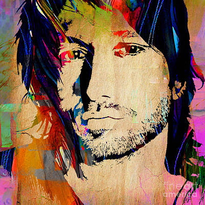 Musicians Mixed Media - Keith Urban Collection by Marvin Blaine