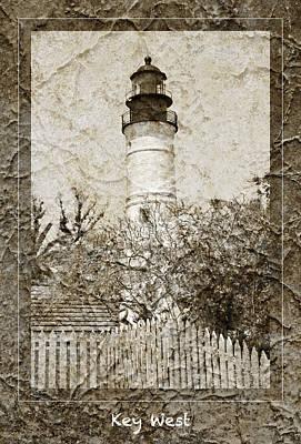 Key West Lighthouse Print by John Stephens