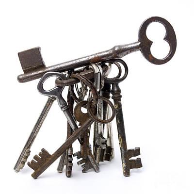 Medium Group Of Objects Photograph - Keys by Bernard Jaubert
