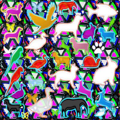 Kids Count Birds Animals Fish Pets Wild Parrot Duck Snail Elephant Rabbit Deer Lamb   Original by Navin Joshi