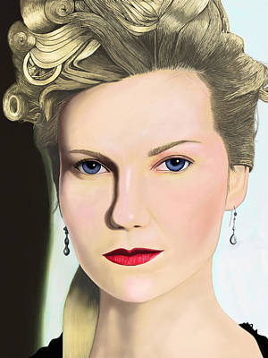 Painting - Kirsten Dunst by Andrew Harrison