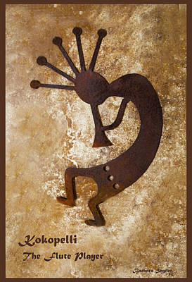 Kokopelli The Flute Player Print by Barbara Snyder
