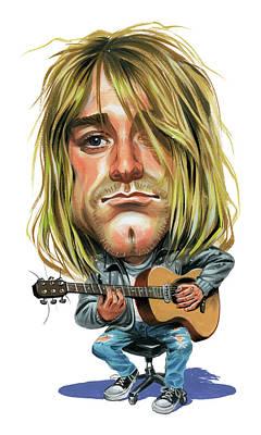 Caricature Painting - Kurt Cobain by Art