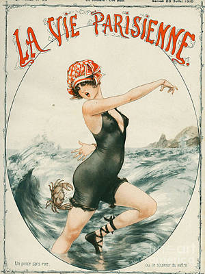 Nineteen-tens Drawing - La Vie Parisienne  1919 1910s France by The Advertising Archives