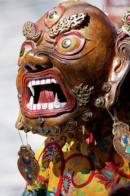Ladakh, India The Ceremonial Masked Print by Jaina Mishra