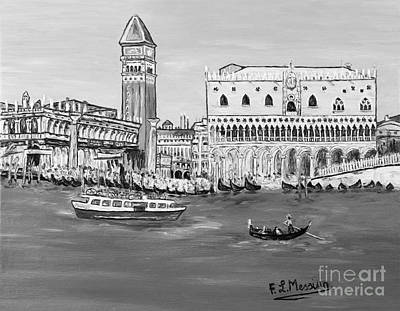 Piazza Drawing - Laguna by Loredana Messina
