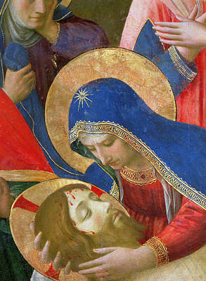 Lamentation Over The Dead Christ Print by Fra Angelico