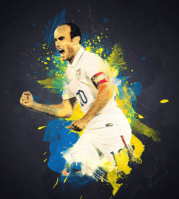 Landon Donovan Digital Art - Landon Donovan by Taylan Apukovska