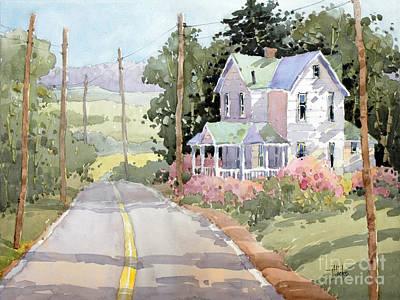 Painting - Laurel Mountain Highlands Farm by Joyce Hicks