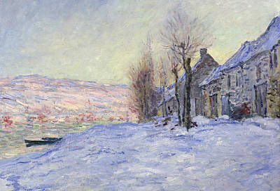 Claude Painting - Lavacourt Under Snow by Claude Monet