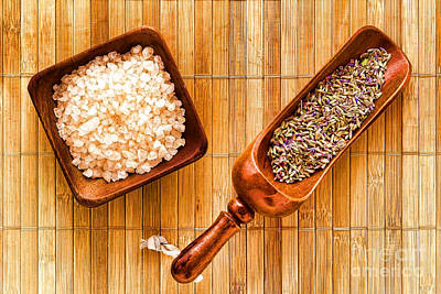 Pampering Photograph - Lavender Seeds And Bath Salts by Olivier Le Queinec