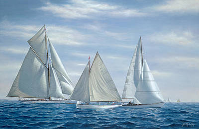 Sailboat Painting - Le Blue by Julia O'Malley-Keyes
