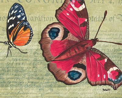 Le Papillon 1 Print by Debbie DeWitt