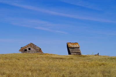 Old House Photograph - Leaning Into The Years by Jeff Swan