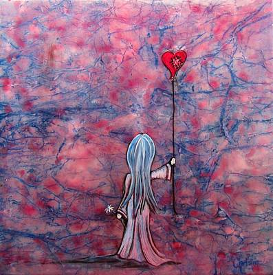 Little Girls Mixed Media - Let Your Heart Lead The Way  by Christine Cholowsky