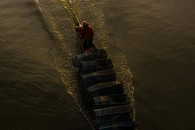Life Asian Fisherman Print by Sihasak Prachum