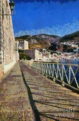 Paint Painting - Light And Shadow In Hydra Island by George Atsametakis