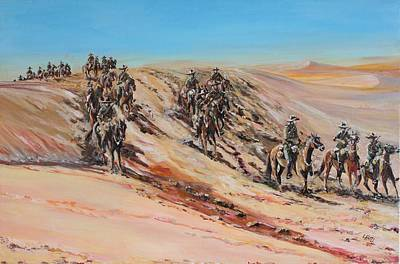 Light Horse On Patrol Original by Leonie Bell