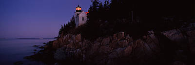 Lighthouse On The Coast, Bass Head Print by Panoramic Images