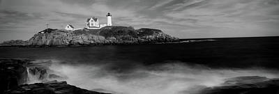 Lighthouse On The Coast, Nubble Print by Panoramic Images
