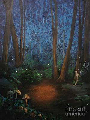Dlgerring Painting - Lilyfern's Forest by D L Gerring