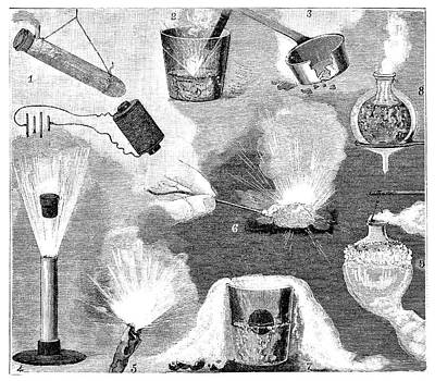 Liquid Air Experiments Print by Science Photo Library