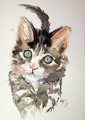 Little Cat Print by Kovacs Anna Brigitta