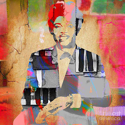 Little Richard Collection Print by Marvin Blaine