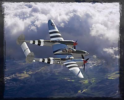 Lockheed P-38 Lightning Print by Larry McManus
