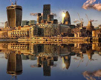 Gherkin Photograph - London City Skyline by Ian Hufton