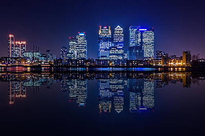 Canary Photograph - London Skyline  by Ian Hufton