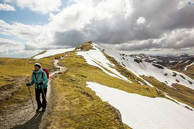 Snow Melt Photograph - Looking Towards Beinn Ghlas by Ashley Cooper