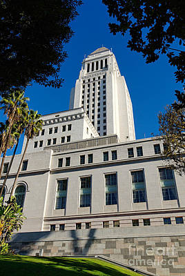 Los Angeles City Hall Print by Jamie Pham