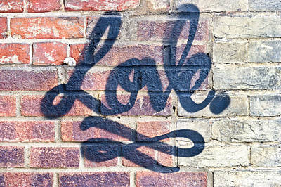 Love Graffiti Print by Tom Gowanlock