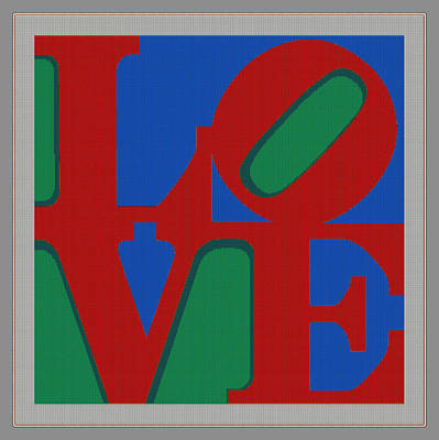 Cities Digital Art - Love Poster by Celestial Images