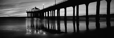 Evening Scenes Photograph - Low Angle View Of A Pier, Manhattan by Panoramic Images